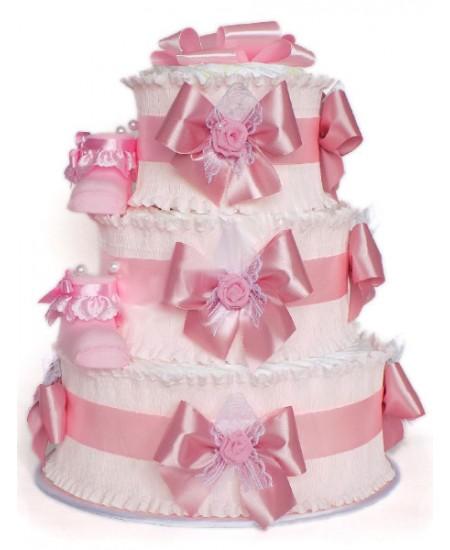Торт из памперсов Розовое облако