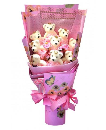 Букет из игрушек  - Розовая мечта
