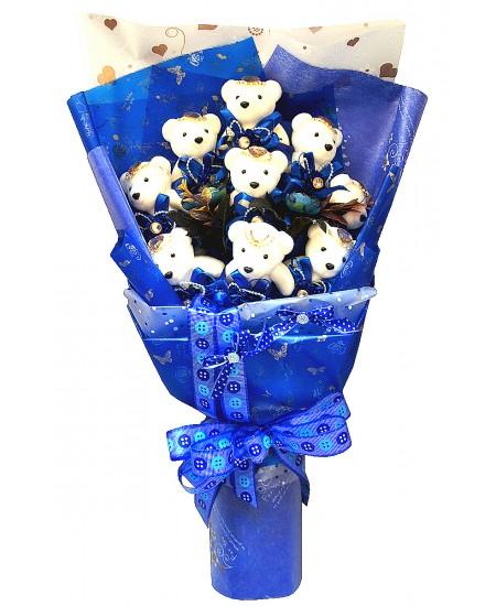 Букет из игрушек  - Голубая мечта