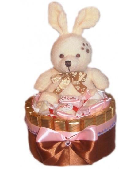 Букет из конфет  Зайка в шоколаде