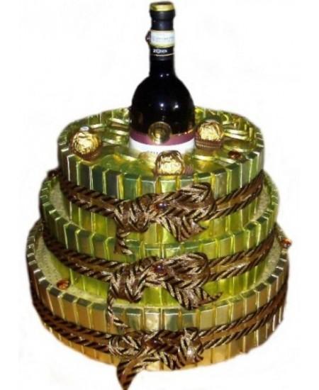 Букет из конфет  Золотой трюфель