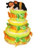Торт из памперсов Пчелка