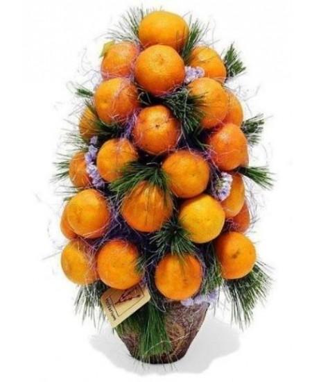 Букет из фруктов Мандариновая елочка