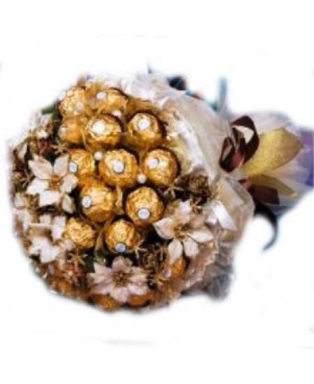 Букет из конфет  Золотая сказка
