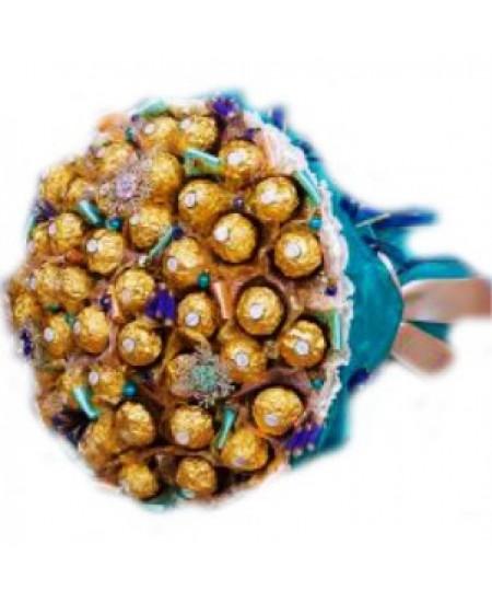 Букет из конфет Голубая ель
