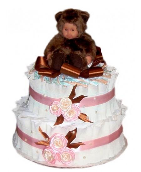 Торт из памперсов Мишутка