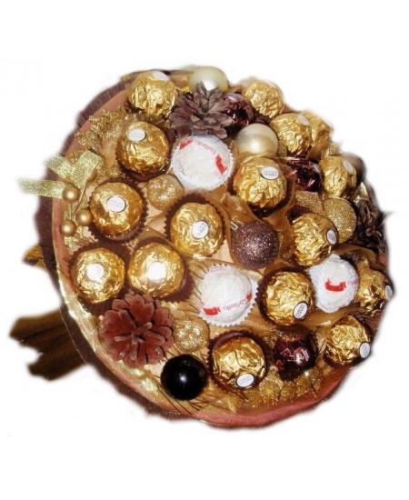 Букет из конфет Шоколадный Новый год