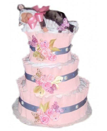Торт из памперсов Кошечка