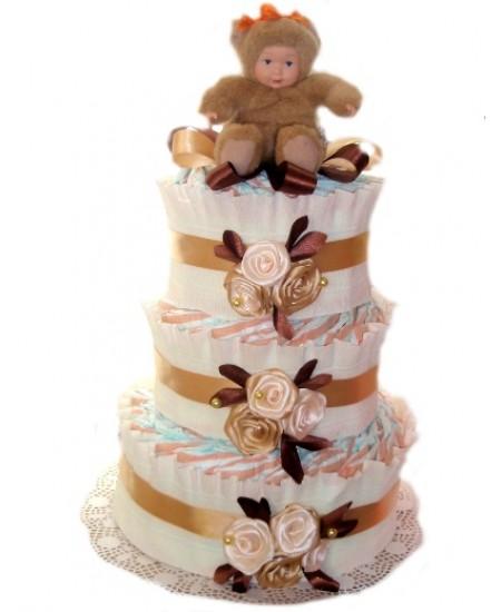 Торт из памперсов Милый мишка