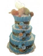 Торт из памперсов Мальчик-Эльф