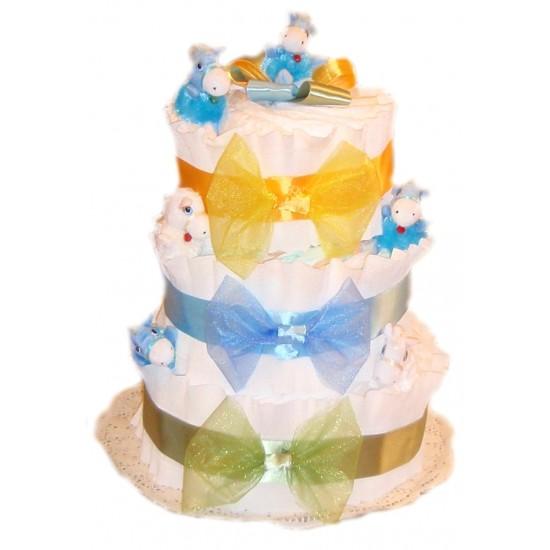 """Торт из памперсов """"Радужный"""""""