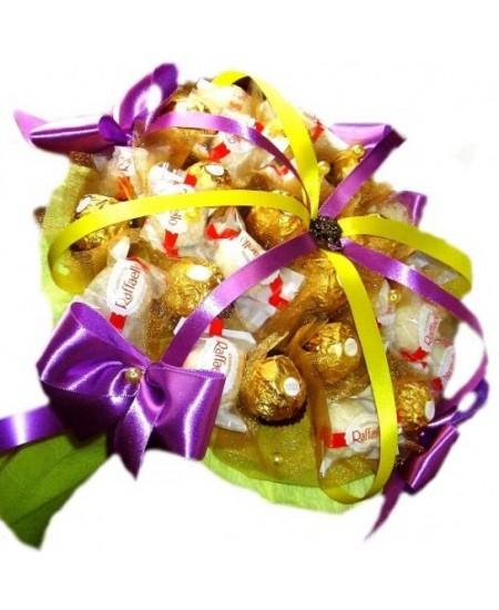 Букет из конфет - Сиреневый кварц