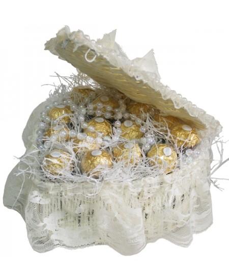 Букет из конфет Белый жемчуг