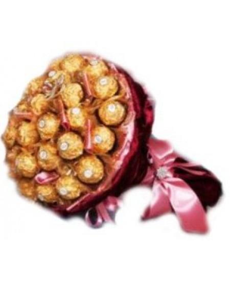 Букет из конфет  Бордо