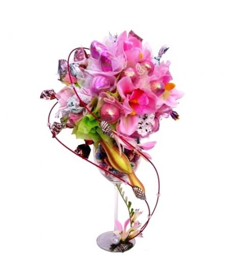 Букет из конфет  Дикая орхидея