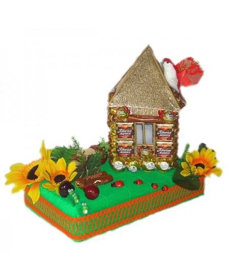 Арт-букет Домик в деревне