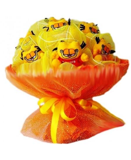 Букет из игрушек Гарфилд