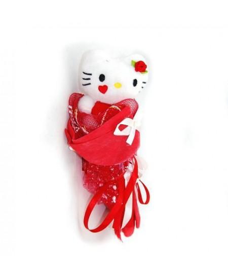 Букет из игрушек Кошечка-сюрприз