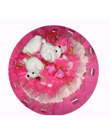 Букет из игрушек Мини-Мишки