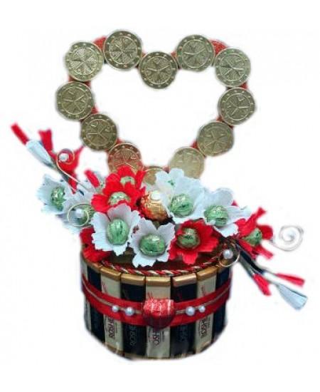 Букет из конфет Моё сердце для тебя