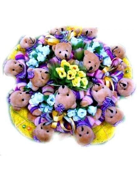 Букет из игрушек Полянка