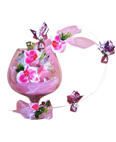 Букет из конфет  Розовые миражи