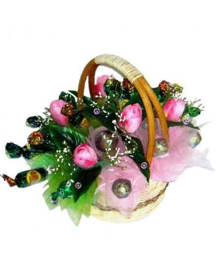 Букет из конфет  Розовый танец