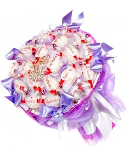 Букет из конфет  Воздушный поцелуй - Срочная доставка в Москве