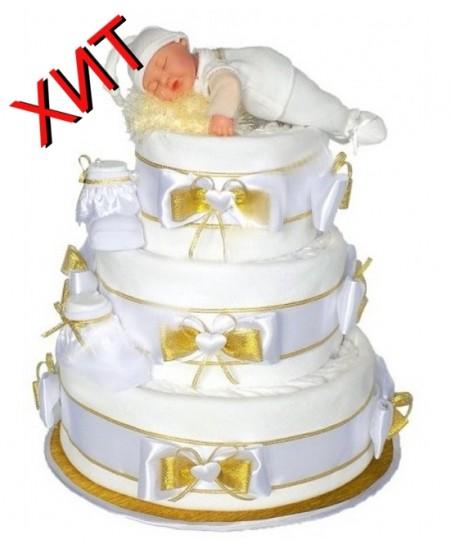 Торт из памперсов Золотая детка