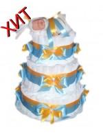 Торт из памперсов Маленькому принцу