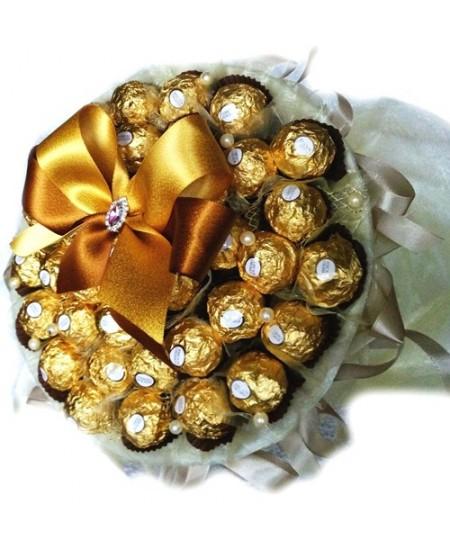 Букет из конфет  Золотистый
